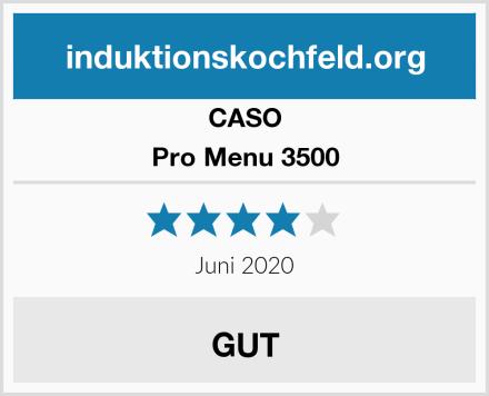 CASO Pro Menu 3500 Test