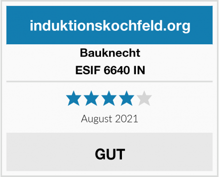 Bauknecht ESIF 6640 IN Test