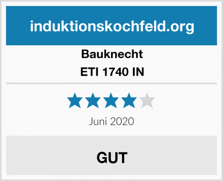 Bauknecht ETI 1740 IN Test