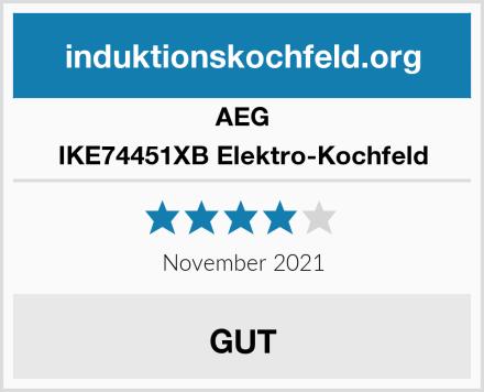 AEG IKE74451XB Elektro-Kochfeld Test